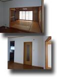 ダイニングから敷居段差のある和室