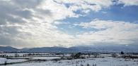 神通川超しに見る立山連峰